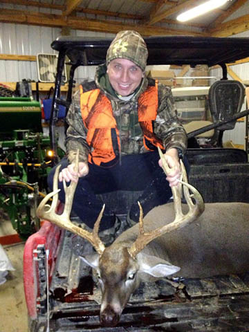 Dr. Justin Rudd is all smiles with an awesome Mississippi buck.