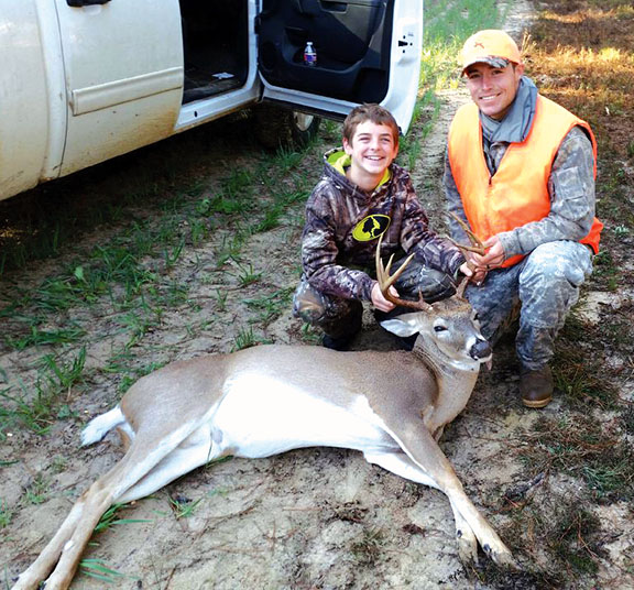 David Landry and son Seth:  Classic image of a father-son hunt.