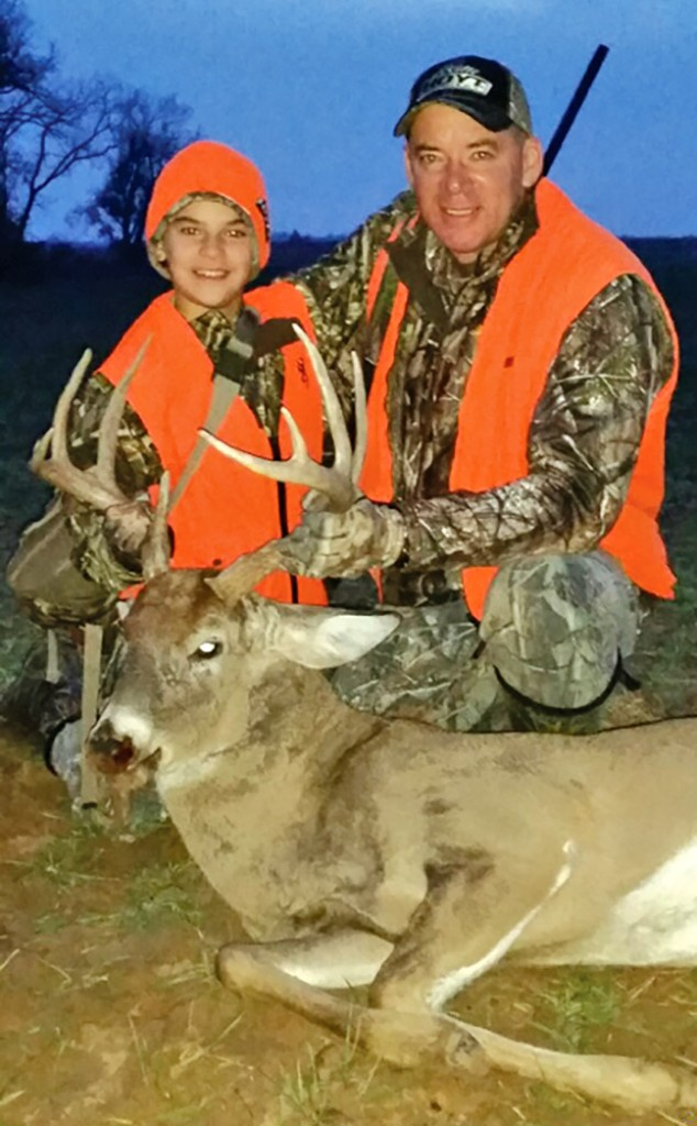 Troy and man-child Trey with a great Kansas buck!