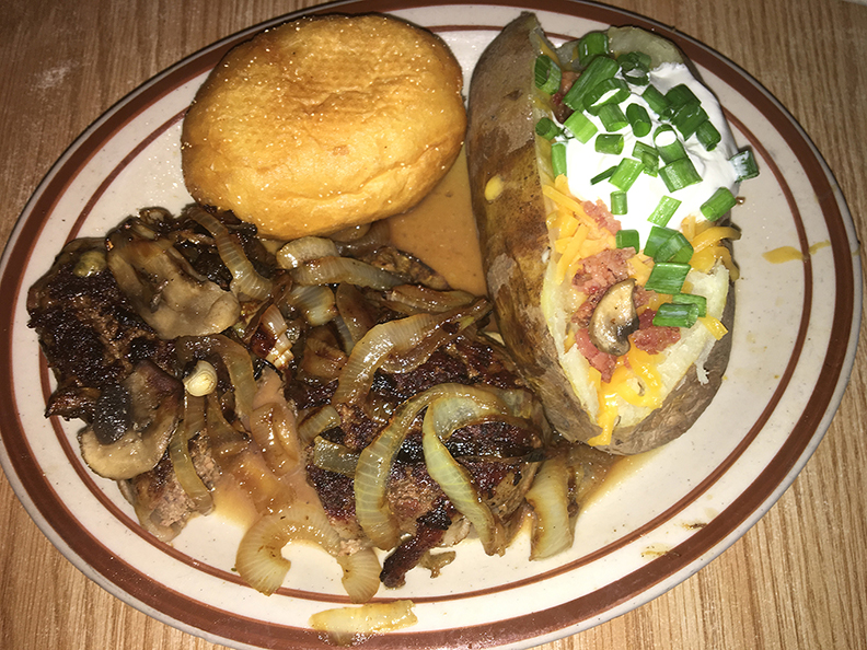Hamburger Steak from Chastain's Food & Spirits in Lake Charles