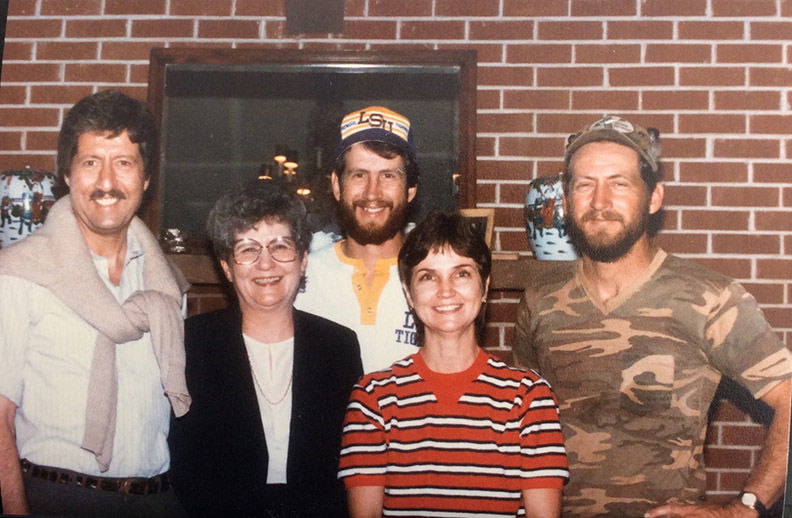 From left, Mackey, mother Dalton, Hal, Jan and Mickey