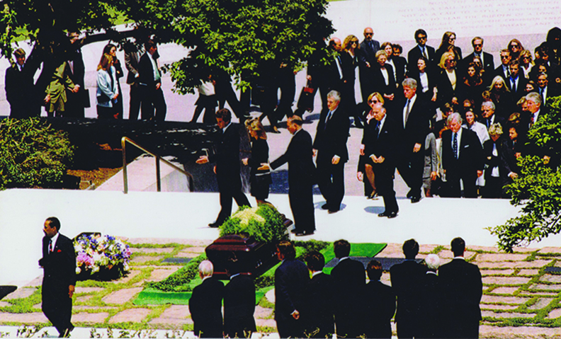 Hohensee's view of the funeral of Jacqueline Kennedy Onassis on May 23, 1994
