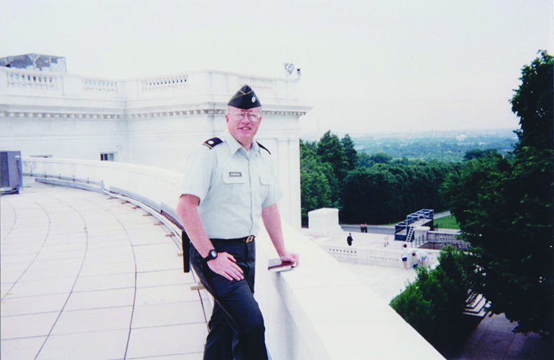 Hohensee at the Amphitheater overlooking Arlington National Cemetery
