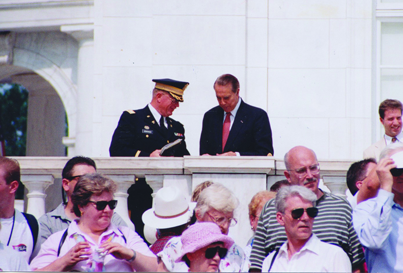 Hohensee with Bob Dole
