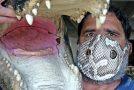 Burmese Python Snakeskin Masks